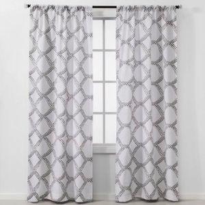THRESHOLD Gray Kana Light Filtering Curtain Panel